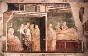 Scenes from the Life of St John the Baptist- 2. Birth and Naming of the Baptist, 1320