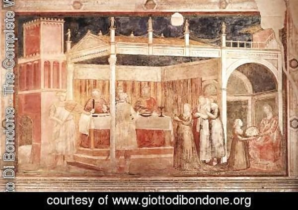 Giotto Di Bondone - Scenes from the Life of St John the Baptist- 3. Feast of Herod 1320