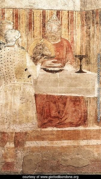 Scenes from the Life of St John the Baptist- 3. Feast of Herod (detail 2) 1320
