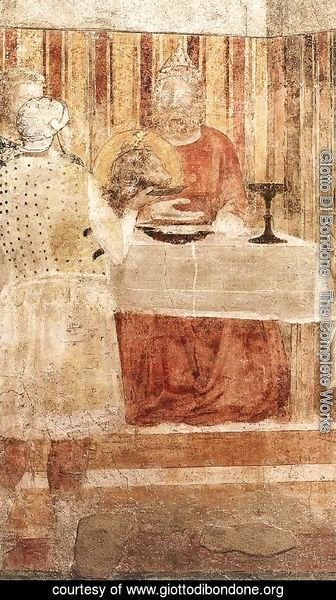 Giotto Di Bondone - Scenes from the Life of St John the Baptist- 3. Feast of Herod (detail 2) 1320