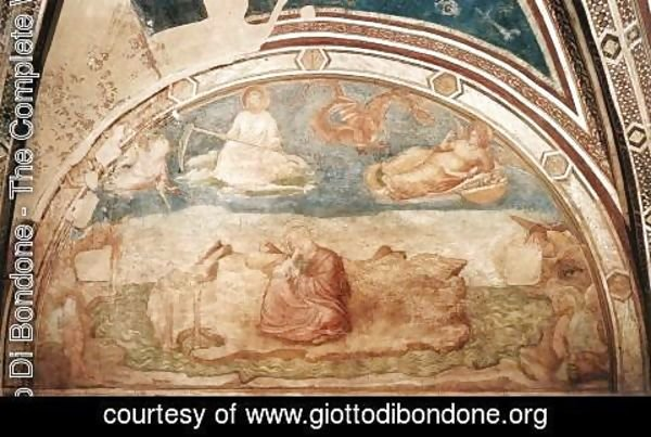 Giotto Di Bondone - Scenes from the Life of St John the Evangelist- 1. St John on Patmos 1320