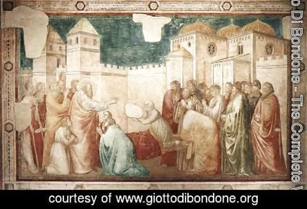 Giotto Di Bondone - Scenes from the Life of St John the Evangelist- 2. Raising of Drusiana 1320