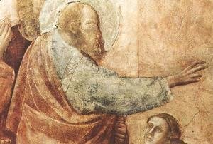 Giotto Di Bondone - Scenes from the Life of St John the Evangelist- 2. Raising of Drusiana (detail 1) 1320