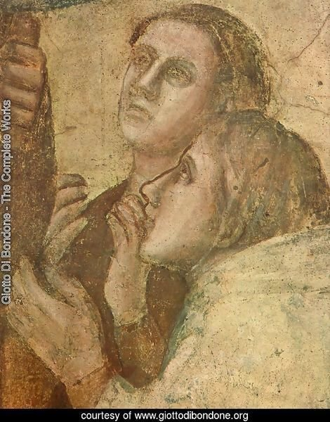 Scenes from the Life of St John the Evangelist- 2. Raising of Drusiana (detail 2) 1320