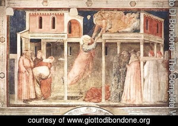 Giotto Di Bondone - Scenes from the Life of St John the Evangelist- 3. Ascension of the Evangelist 1320