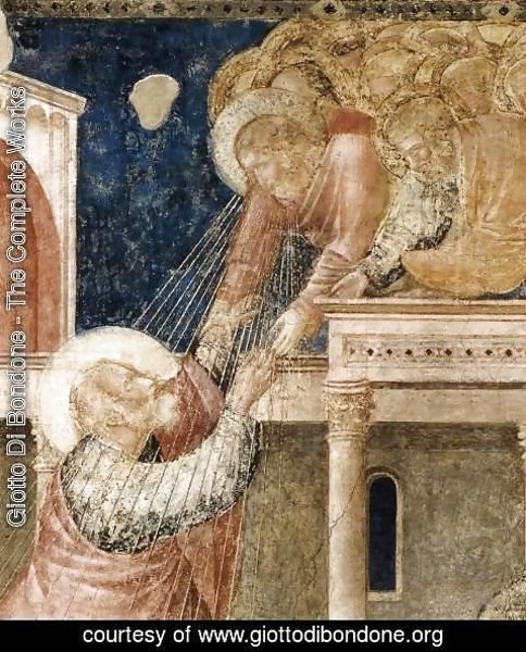 Giotto Di Bondone - Scenes from the Life of St John the Evangelist- 3. Ascension of the Evangelist (detail) 1320