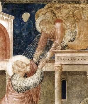 Scenes from the Life of St John the Evangelist- 3. Ascension of the Evangelist (detail) 1320