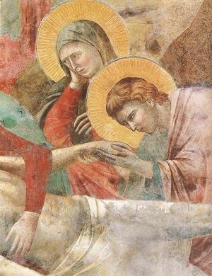 Scenes from the New Testament- Lamentation (detail 1) 1290s