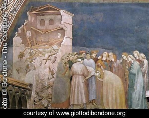 Giotto Di Bondone - The Death of the Boy in Sessa 1310s