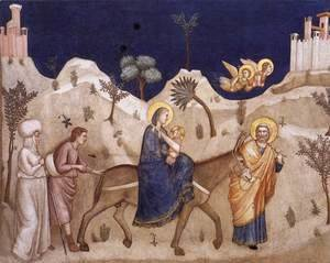 Giotto Di Bondone - The Flight into Egypt 1310s
