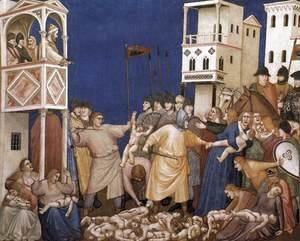 Giotto Di Bondone - The Massacre of the Innocents 1310s