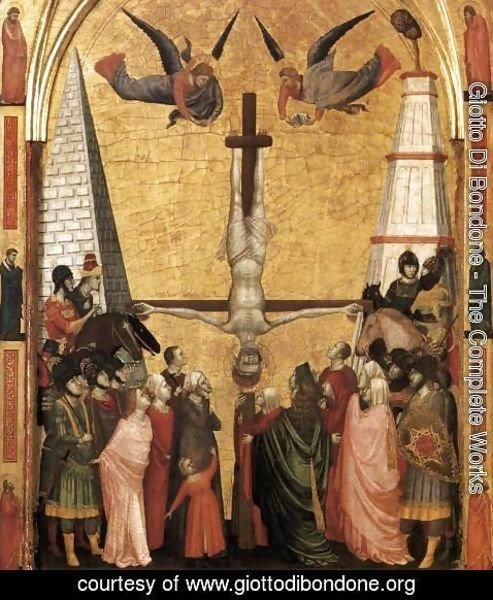 Giotto Di Bondone - The Stefaneschi Triptych- Martyrdom of Peter c. 1330