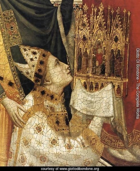The Stefaneschi Triptych- St Peter Enthroned (detail) c. 1330
