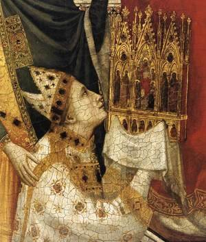 Giotto Di Bondone - The Stefaneschi Triptych- St Peter Enthroned (detail) c. 1330