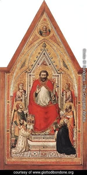 Giotto Di Bondone - The Stefaneschi Triptych- St Peter Enthroned c. 1330