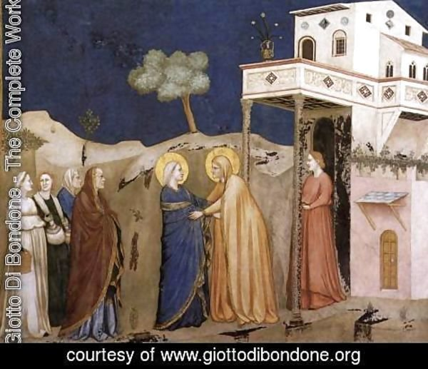 Giotto Di Bondone - The Visitation 1310s