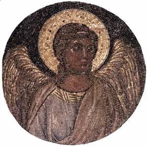 Giotto Di Bondone - Tondo with Angel c. 1310 (Mosaic)