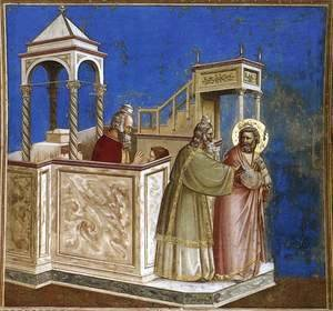 Giotto Di Bondone - No. 1 Scenes from the Life of Joachim- 1. Rejection of Joachim's Sacrifice