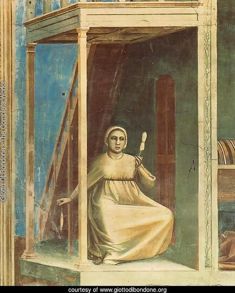 No. 3 Scenes from the Life of Joachim- 3. Annunciation to St Anne (detail) 1304